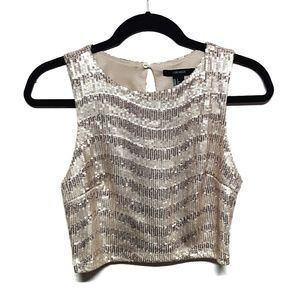 Forever 21 Sequined Cropped Tank Top